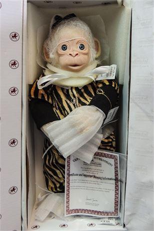 """Ashton Drake """"Little Banji"""" Baby Monkey 14"""" Doll by Cindy Sales Mint in Box!"""