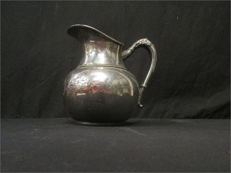 Quadruple Plated Pitcher Silver Pleated Marked 153
