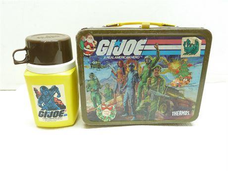 Vintage (1982) GI JOE Lunch Box & Thermos, Hasbro