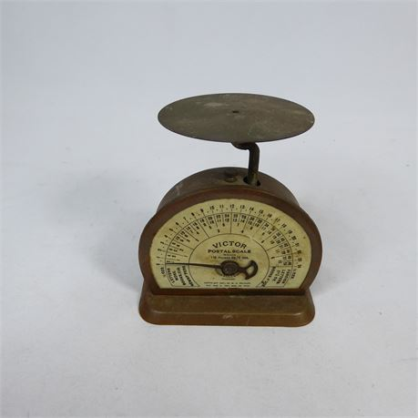 Antique Victor Postal Scale, 1898 Works!