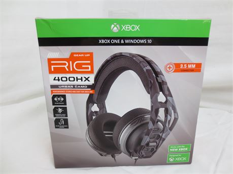 Xbox One and Windows 10 Gear Up Rig 400HX Urban Camo Gaming Headset