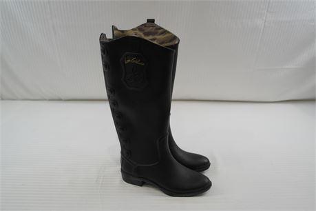 Sam Edelman Womens Black Rain Boots Size 6M