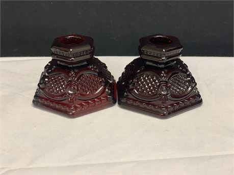 Avon Candle Holders