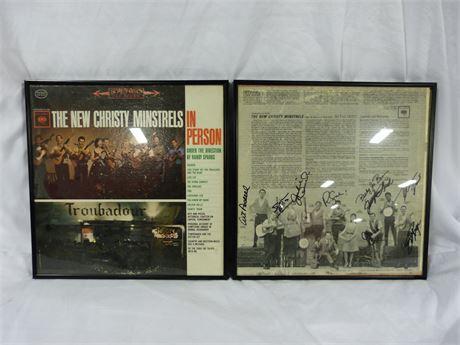 The New Christy Minstrels 2 Piece Signed Vinyl Sheet