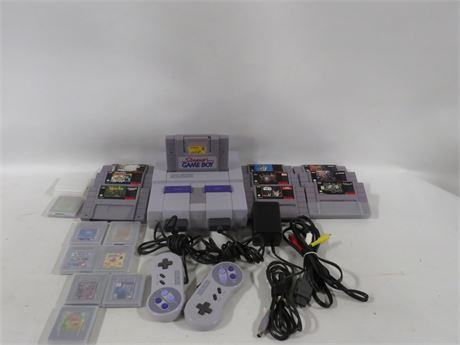 Super Nintendo (230-LV2P19)Controllers8 Gameboy Games