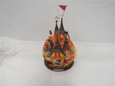 """Disney Enchanted Pumpkin Castle"" Illuminated Masterpiece The Bradford Exchange"