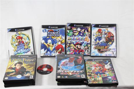 Lot of 12 Rare Nintendo Gamecube Games, Sonic Battle, Super Mario Sunshine