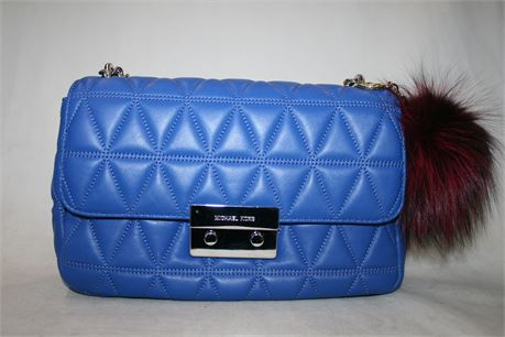 Michael Kors Sloan Quilted Purse Electric Blue, AQ-1612 S17