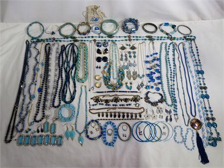 3LB Blue Jewelry Lot