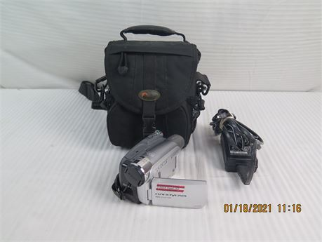 Sony DCR-HC26 Mini DV Cassette Handycam Camcorder w/ Charger, Case - AS-IS (670)