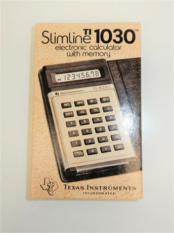 Vintage Texas Instruments Ti-1030 Scientific Slimline Calculator New Rare