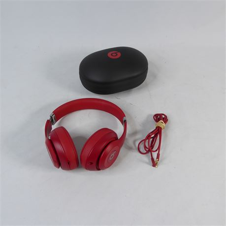 Beats Studio 3 Wireless Headphones w/ Case, Red