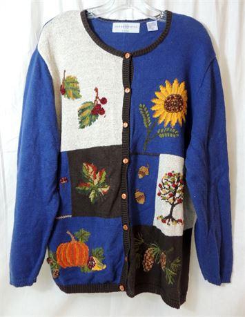 NWT Marisa Christina Woman Embroidered Sweater Size 2X (579)