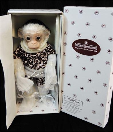"Ashton Drake ""Little Mashaki"" Baby Monkey 14"" Doll by Cindy Sales Mint in Box!"