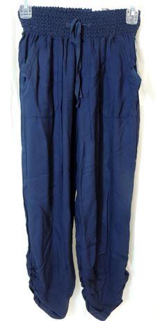 NWT Rewash Women's Medium Navy Casual Jogger Harem Style Pants (579)