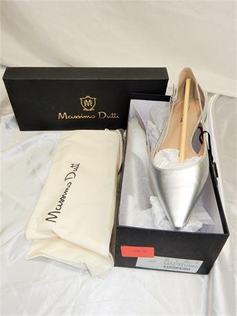 Massimo Dutti Ballerina Laminada Flats