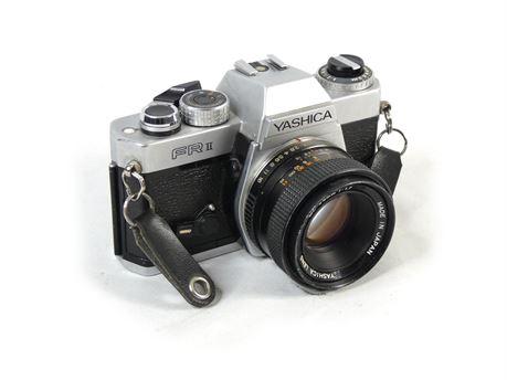 Yashica FR II FR2 35mm Film Camera w/Yashica ML 50mm F1.7 Lens (Untested, AS-IS)