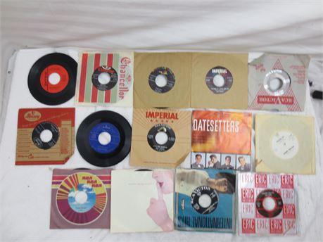 Lot of 45s 7 Inch Vinyl Records Lot J