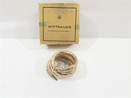 Vintage Wittnauer Fashion Snake Bracelet. W/ Box