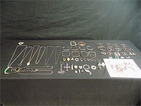 925/Sterling Jewelry Lot, Wearable+Scrap, 578 g