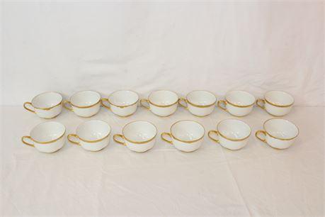 11 Vintage Hutschenreuther Bavaria Germany Porcelain Tea Cup Set