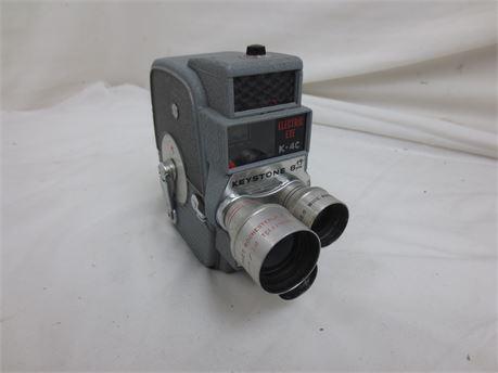 Kodak Keystone Electric Eye 8mm Movie Camera with 3 Rotating Lenses
