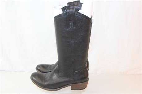 Frye Boots Black Leather Riding Boots Sz 7