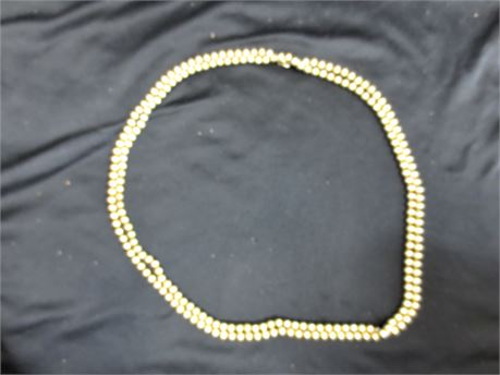 62 Inch Gold Filled Beaded Necklace