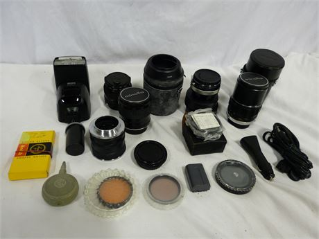Camera Lens Misc. Accessories Lot