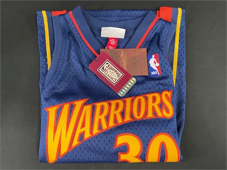 Golden State Warriors, Stephen Curry Jersey, Size: M 10/12, Mitchell and Ness