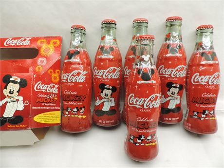 Coca-Cola Celebrate MICKEY 75 InspEARations Coke Bottle Disney Mouse SiX Pack!!!