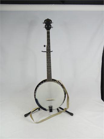 George Washburn 5-string Resonator Banjo w/ Case