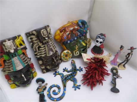 Mexican Aztec Heritage & Day Of The Dead Decorations
