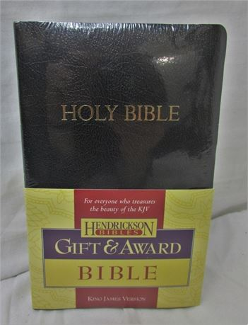 NEW KJV Gift & Award Bible, Imitation Leather, Black [H]