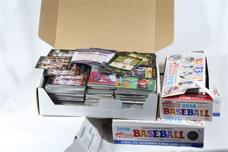 Lot of Assorted Sports Cards, 18 Pounds, Topps, Upper Deck, Fleer