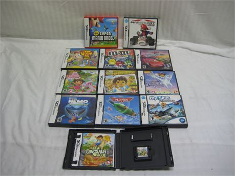Lot Of 12 Nintendo DS Video Games Complete With Manuals