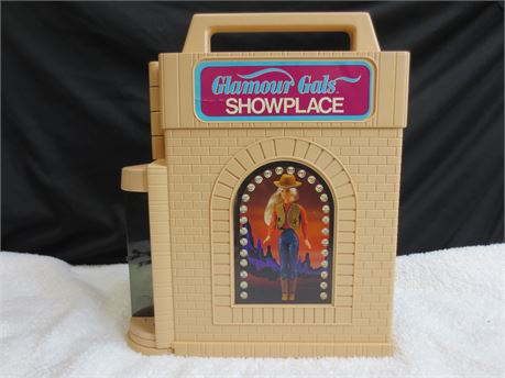 2 Glamour Gals Showplace Collectors Cases with 30 Dolls made by Kenner 1981