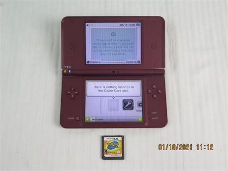 Nintendo DSi XL Handheld System w/ Pokemon: Ranger Game Cartridge - No Charger