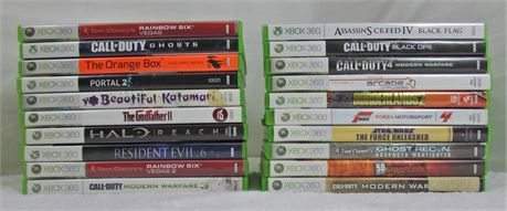 Lot of 20CT XBOX 360 video games.