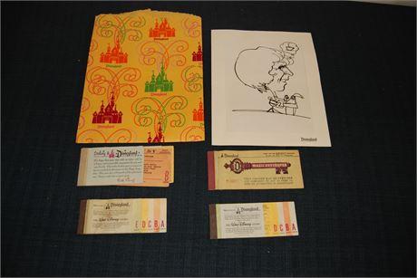 Vintage Original Disneyland Ticket Books (500)
