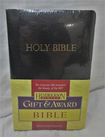 NEW KJV Gift & Award Bible, Imitation Leather, Black [G]