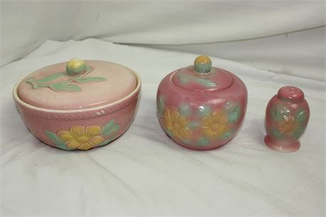 3 Pieces of HULL Sun Glow Pottery