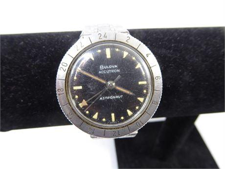 Vintage Bulova Accutron Astronaut Men's Watch, Needs Battery FPOR