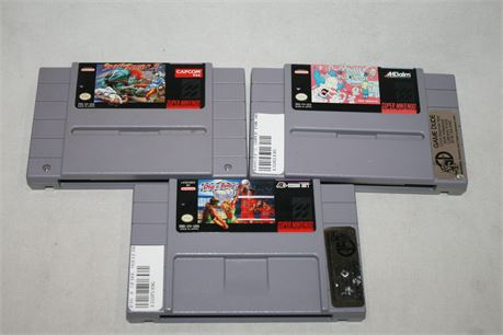 SNES Video Games, 3 Total