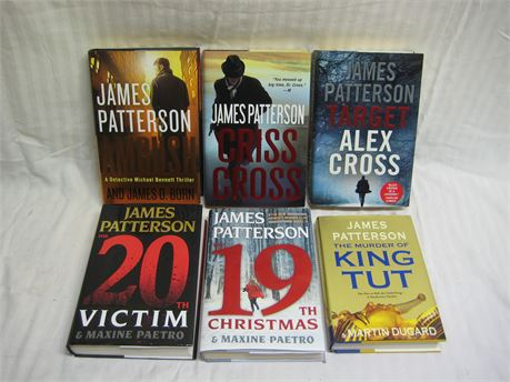 Lot Of 6 James Patterson Hardcover Books