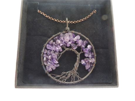 UNIKI Tree Of Life Necklace With Amethyst