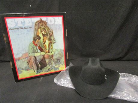 Men's Stetson Apache Wool Cowboy Hat Size 7.25R Brim 4 Model SBAPCH