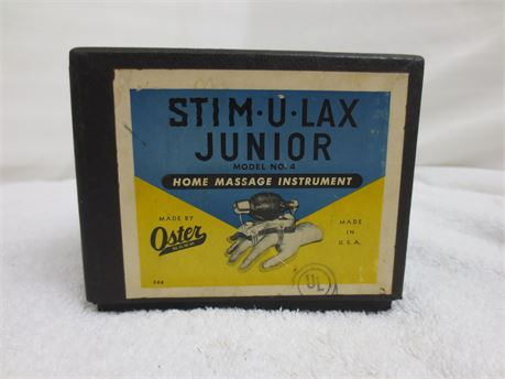 Vintage Home Massage Instrument Stim U Lax Junior Made by Oster