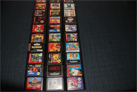 Sega Genesis Game Lot (30) Titles