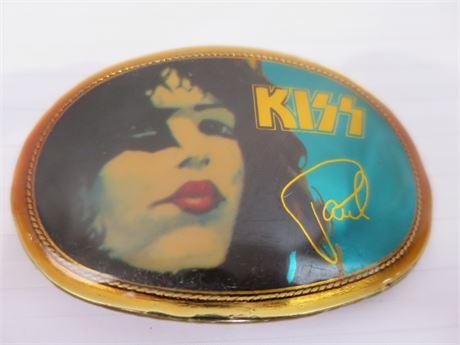 Vintage KISS 1977 Paul Stanley Pacifica Belt Buckle (670)